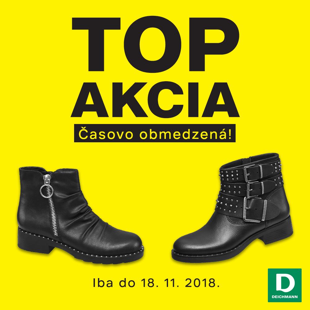 Zľava na vybrané modely obuvi! Nakupujte v predajniach DEICHMANN! Iba do 18.  11. 2018. fb2cd53b2d0